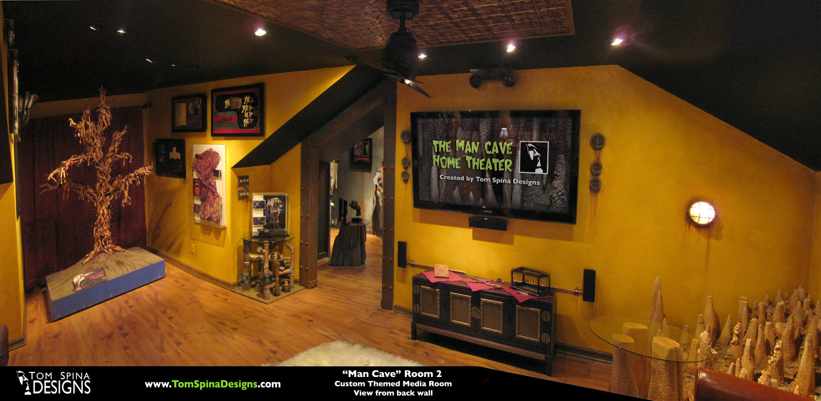 Movie Man Cave Ideas : Custom man cave horror themed home theater movie prop