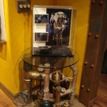 Themed Home Theater Design Man Cave steampunk table