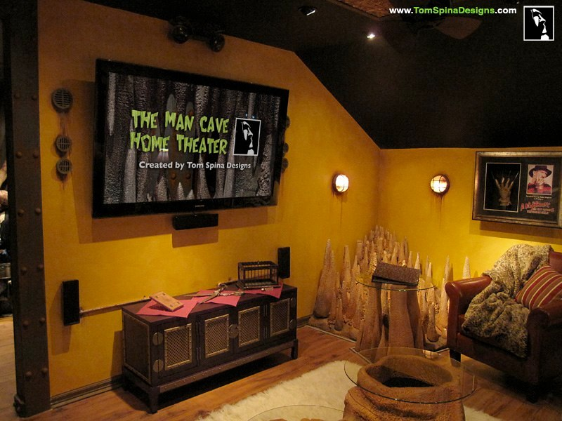 Man Cave Home Decor : Custom man cave horror themed home theater movie prop