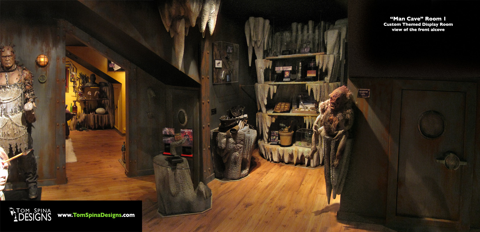 custom man cave themed movie props display room man cave home theater horror home