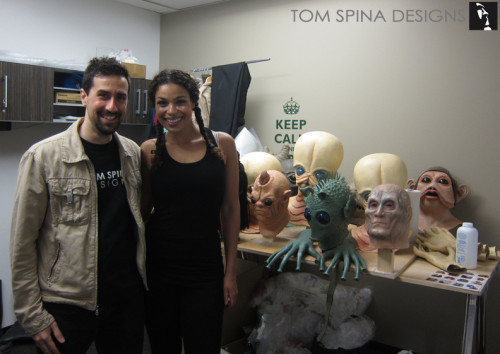 American Idol Jordin Sparks from College Humor video with our latex star wars rubber alien masks