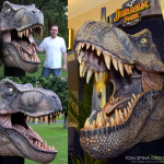 Jurassic Park T Rex Life Sized Foam Carved Bust