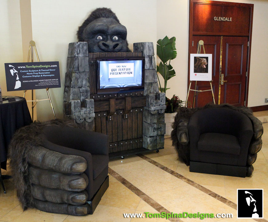 King Kong Gorilla Themed Furniture Hand Chairs Tom Spina Designs