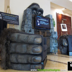 King Kong Home Theater Furniture, custom movie themed foam character sculptures