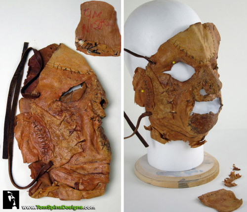 Texas Chainsaw Massacre Leatherface Mask Restoration of KNB effects movie prop