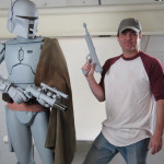 custom mannequin for Boba Fett's costume, prototype lifesized figure