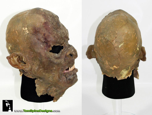 Lord of the Rings Movie Prop Orc Mask Restoration and Conservation
