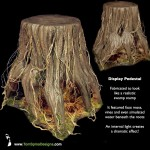 Foam Faux Tree Stump Table Prop