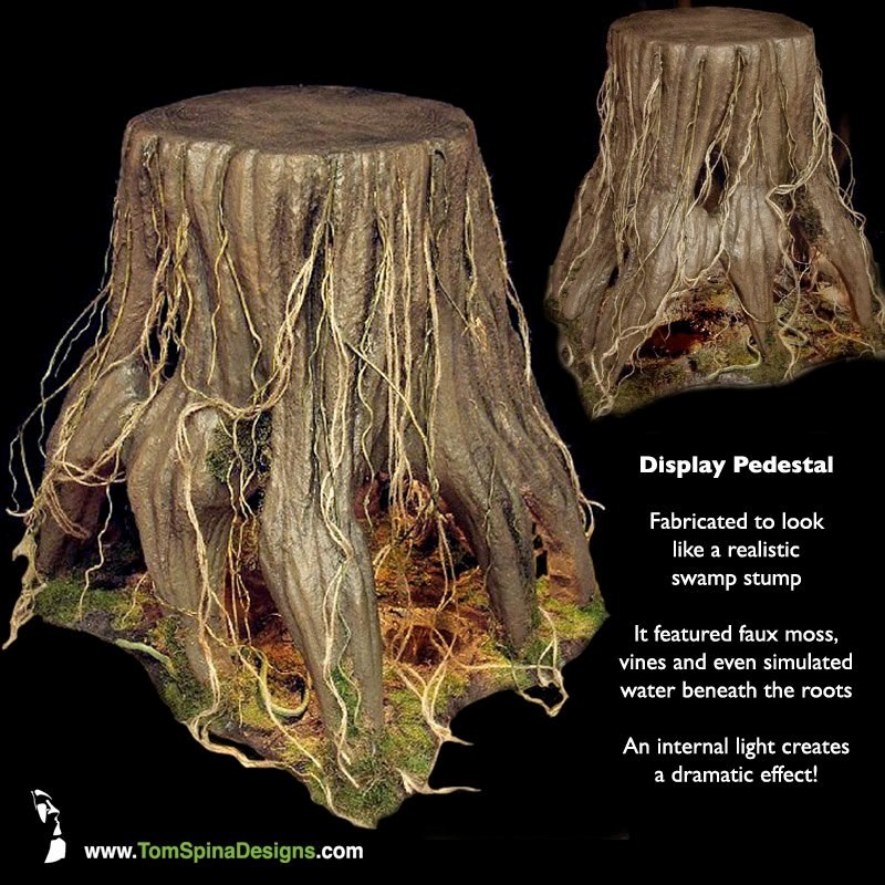 Tree stump table prop - movie themed furniture for home theater or office