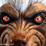 Lifesized wolf werewolf statue eyes