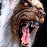 Werewolf statue fangs and head