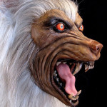 Lifesized werewolf head