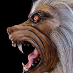 Werewolf head sculpture statue
