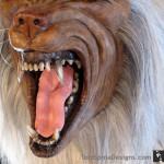 Lifesized white werewolf drool teeth and tongue