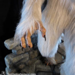 Lifesized white werewolf statue claws and paws