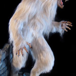 Lifesized white werewolf statue