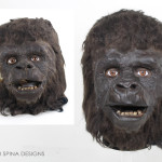 Planet of the Apes Mask Prop gorilla from 1968 film on custom mannequin head