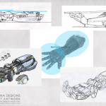 Giant Robot Arm Prop concept art