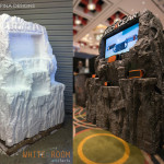 foam trade show booth prop mountain rocks