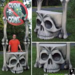 Skull Table Themed Foam Sculpture for Six Flags