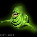 Ghostbusters 3D cgi Slimer Costume Sculpture