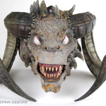 Conservation of an animatronic movie costume head by KNB Effects