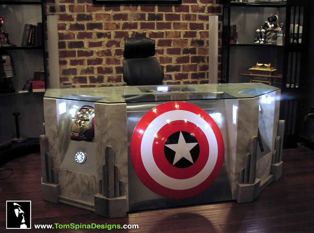 The Avengers desk movie themed office or home theater furniture