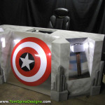 The Avengers movie themed office or home theater furniture