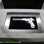 The Avengers movie themed office or home theater furniture Nick Fury Gun