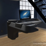 custom star trek desk office furniture and themed decor