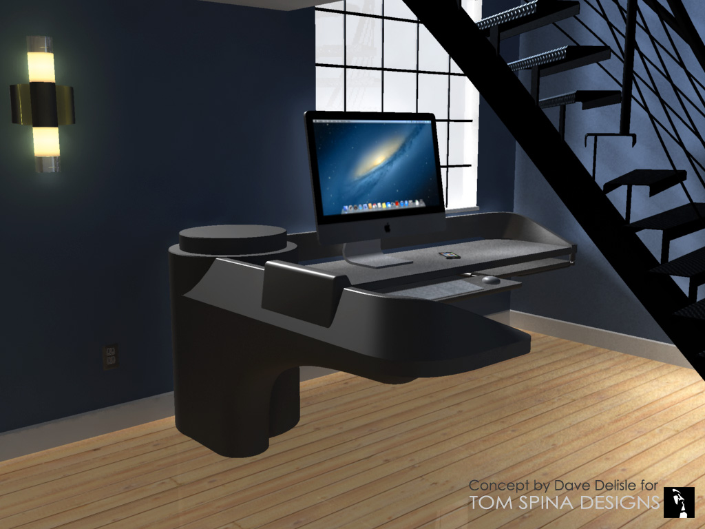 ... custom star trek desk office furniture and themed decor ...