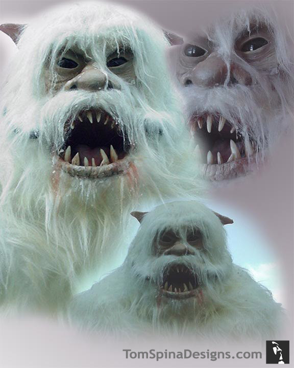 latex yeti snow monster puppet character