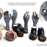 Toy Prototype Sculpting of Zombie Motionette Animated Monster Figure