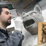 Tom Spina sculptor of werewolves