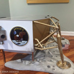 Lunar Module Desk moon themed custom furniture for home office or home theater