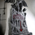 tim burton themed party event prop headstone