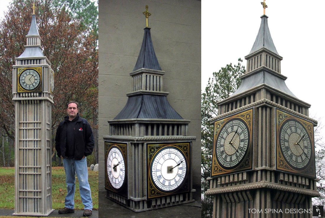 Big Ben custom foam trade show model
