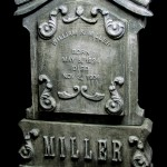 Custom tombstone prop in carved EPS foam