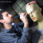 painting custom frankenstein bride statue for charity
