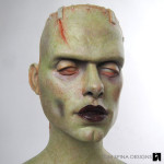 custom frankenstein bride statue for charity
