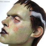 bride of frankenstein bust statue for charity