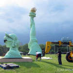 Statue of Liberty photo-op installation at GovBallNYC