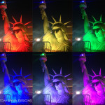 Statue of Liberty photo-op with light fx