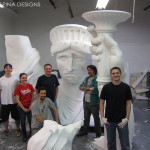 EPS styrofoam sculptors in our New York studio