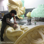 EPS foam artist working on Liberty photo-op
