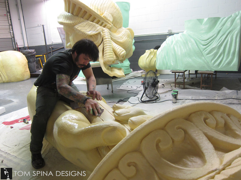Foam Statue of Liberty Event Prop Sculpture - Tom Spina Designs