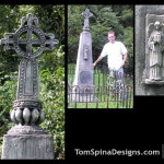 Custom tombstone props carved EPS foam
