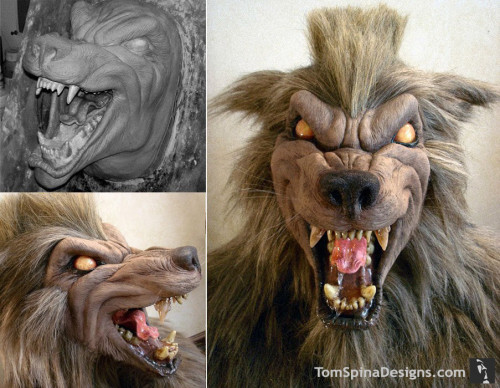 Hyena lifesize werewolf bust prop latex display mask