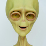 lifesized alien statue of Brian from Exede Internet