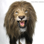 realistic life-sized lion costume